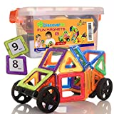 78 Pieces Building Magnetic Tiles, The Smart Choice for Your Kid - Fun, Educational, And Inspirational Toy For Ages 3 And Up - by DiscoverIn!