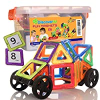 78 Pieces Building Magnetic Tiles, The Smart Choice for Your Kid - Fun, Educa...