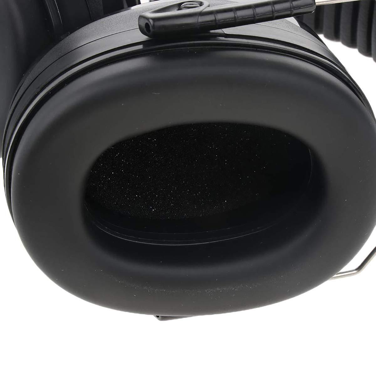 Casque Bruit R/éduction Sports Chasse Cache-Oreilles Coussinet en Acier Inoxydable