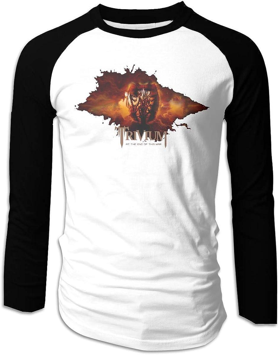 CAOI UUC Trivium Mens Game Raglan Long Sleeve Baseball T-Shirts Black