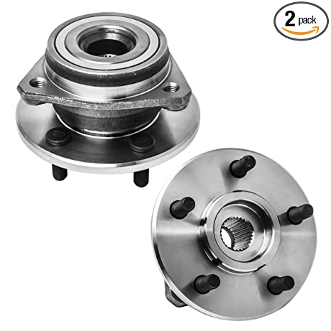 Front Wheel Hub and Bearing Assembly Left or Right Compatible Jeep Grand  Cherokee Comanche Wagoneer Wrangler TJ YJ AUQDD 513084 x2 [ 5 Lug ]