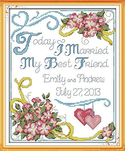 Stamped Cross Stitch Wedding (Astitch Stamped Cross Stitch Kits Wedding anniversary)