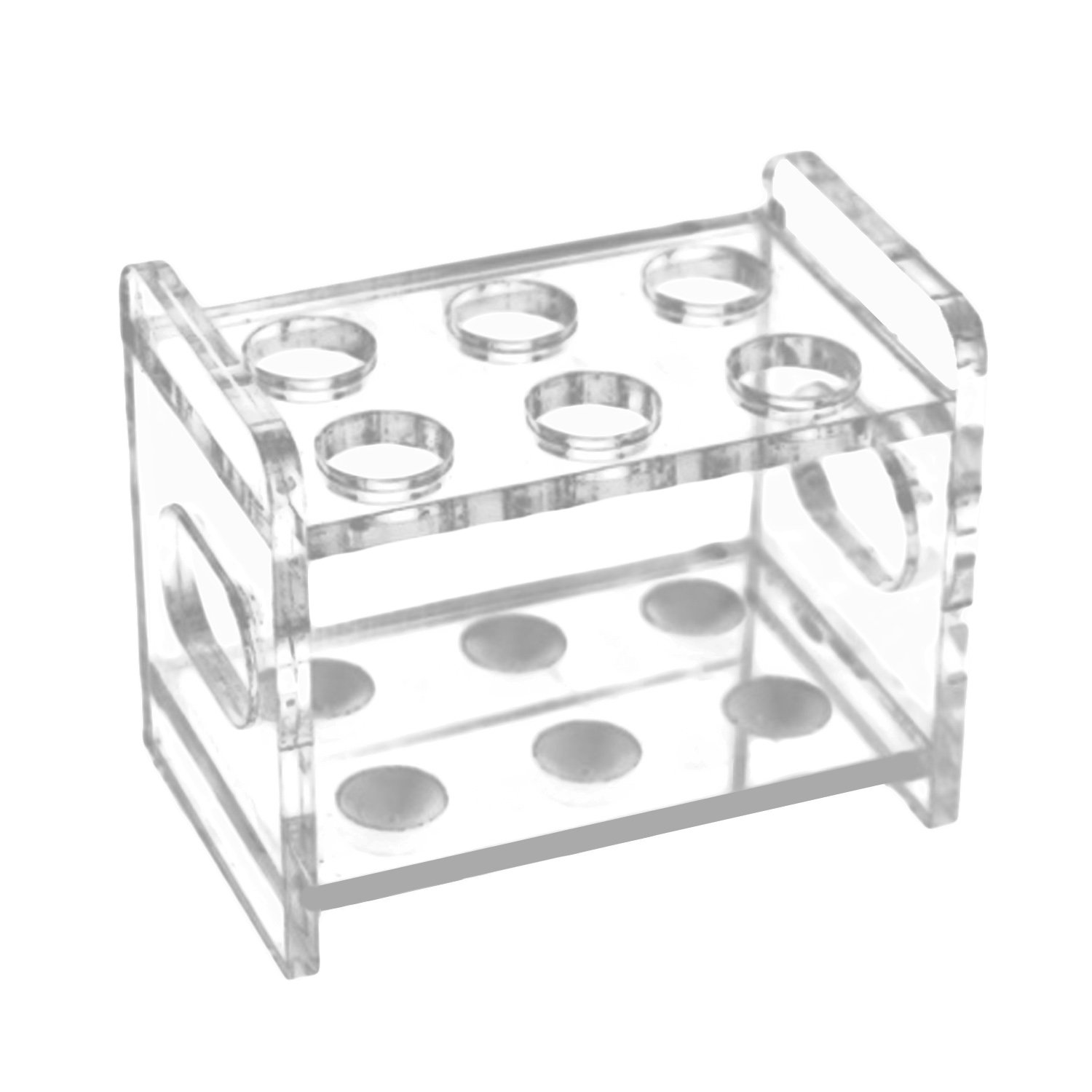 12 Slots Acrylic Strong Test Tube Cups Holder Organizer Rack for Laboratory Exhibition Bar KTV Gosear