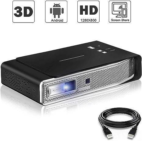Proyector De Bluetooth, Soporte 1080P Sonido Dolby Wi-Fi De Doble ...