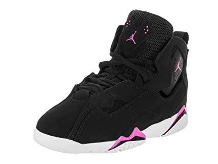 4eebc0f6f82 Image Unavailable. Image not available for. Color  Jordan Nike Kids True  Flight GP Black Fuchsia Blast White Basketball Shoe ...