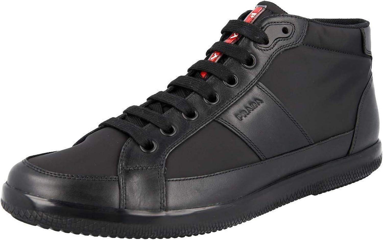 Prada Men's 4T2878 Leather High-Top