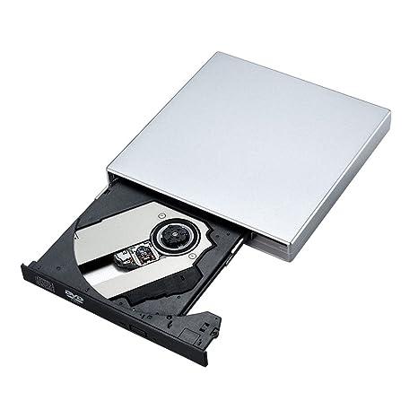 VicTsing Unidad Óptica DVD/CD Externa Portátil USB, Grabadora de CD Lector de DVD