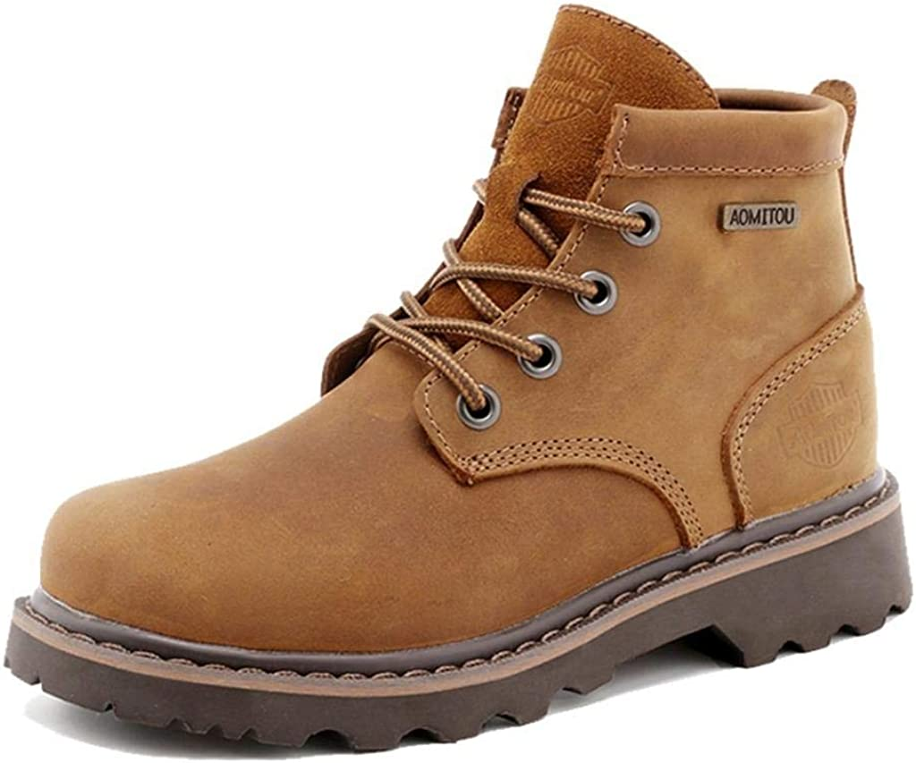 TRULAND Womens Full Grain Leather Lace Up Classic Ankle Chukka Boots