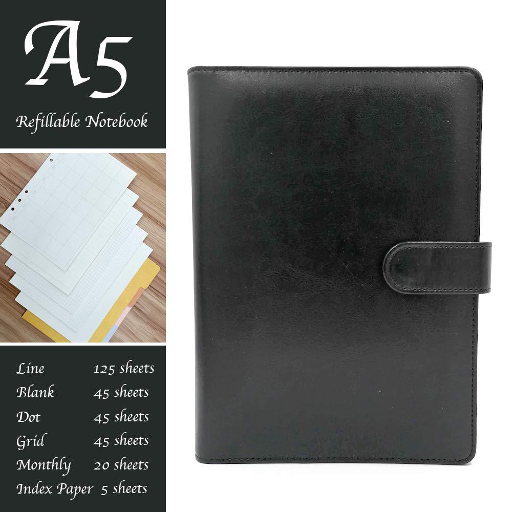 Amazon.com: (E&F) Total 280 hojas – Cuaderno A5 diario ...