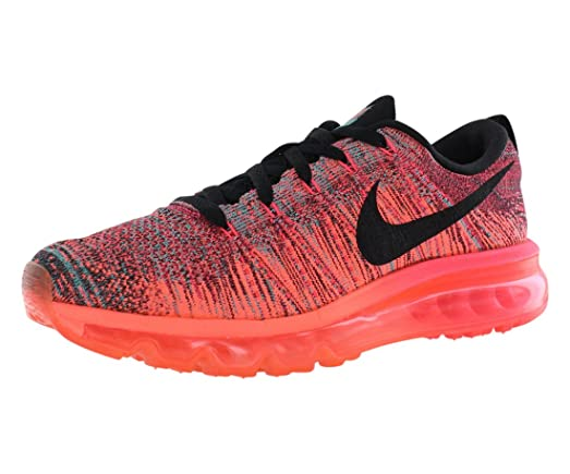 nike women's air max flyknit running shoes black and purple 408c