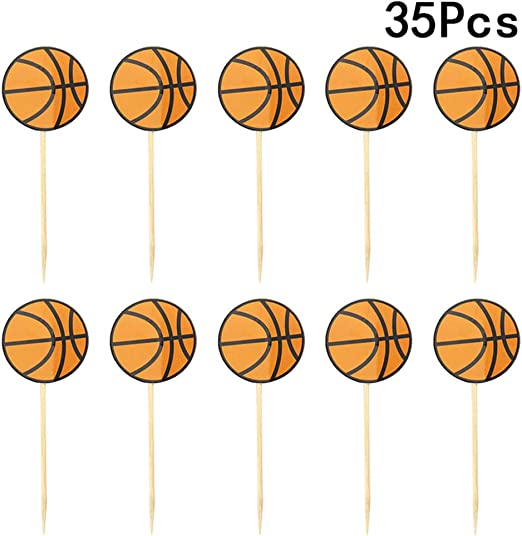 35 piezas de decoración para cupcakes de baloncesto con frutas de ...