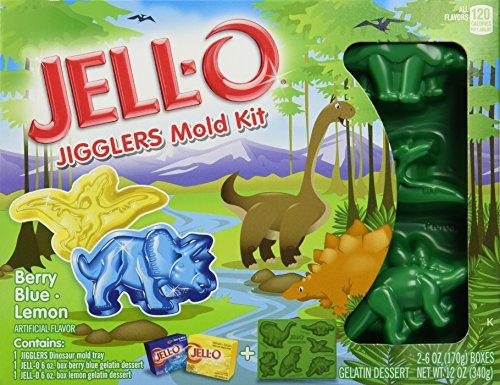 Jell-O Jigglers Mold Kit, Dinosaurs, 12 Ounce - Berry Blue & Lemon