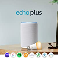 Amazon Echo Plus (2nd Gen) (White) + Philips Hue Bulb