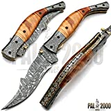 Custom Handmade Damascus Steel Hunting Folding Pocket Knife -Sword/Chef Kitchen Knife/Dagger/Full Tang/Skinner/Axe/Billet/Cleaver/Bar/Bowie/Kukri/knives accessories/survival/Camping With Sheath 8459