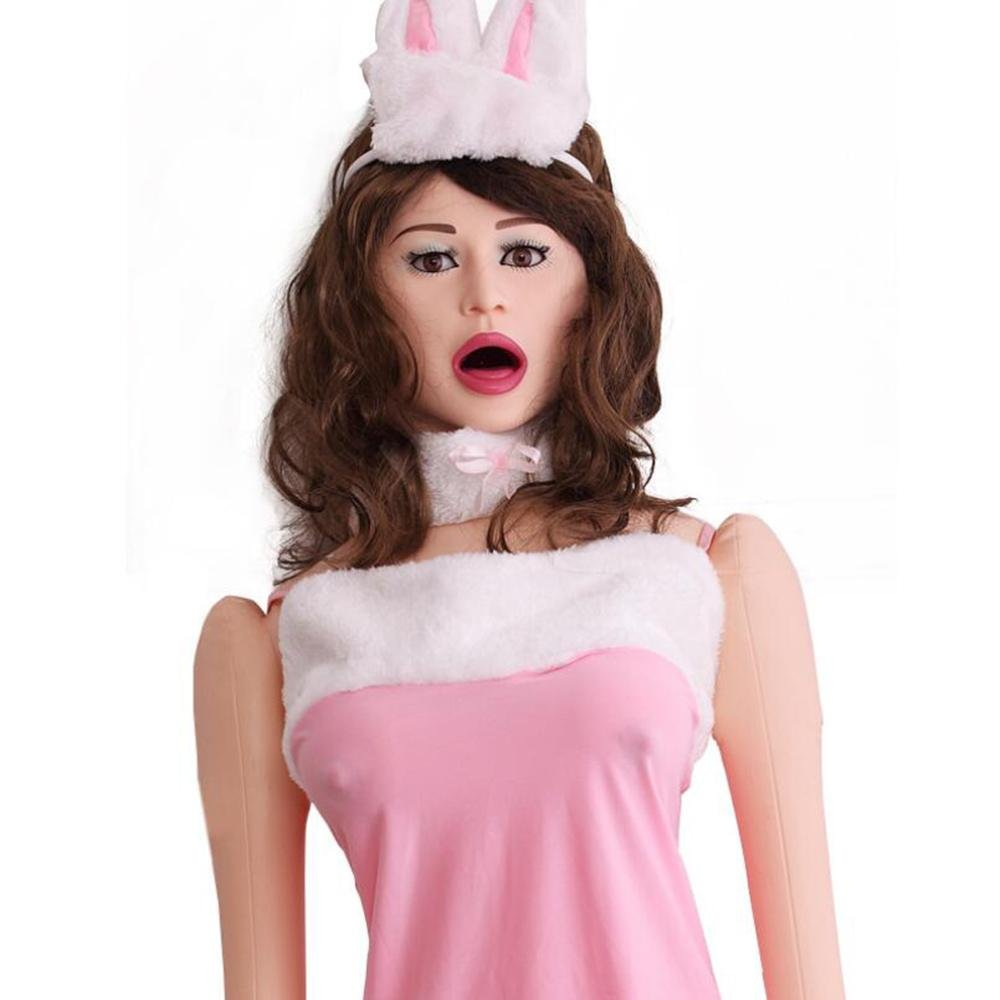 Love Doll with 3D Face and Long Hair Inflatable Doll Woman Blowup Girl Female 52042, BY COS2YOU
