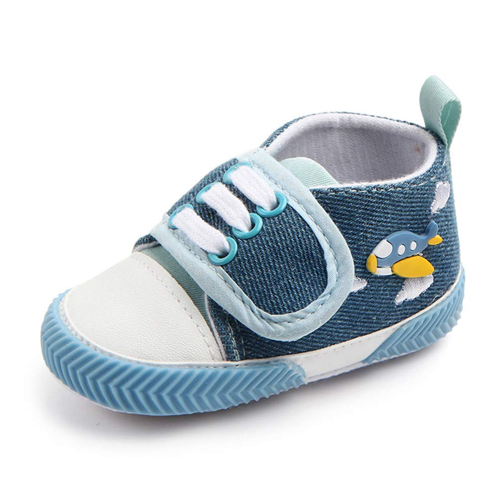 UWESPRING Baby Boys Sneaker Cartoon Fish First Walkers with Socks