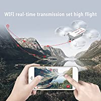 Hanbaili Drone with Camera Real-time Transmission,360 Degree Roll Speed File One Key Return Drone with Headless Mode Designed for Kids