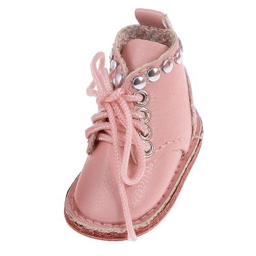 MagiDeal Rose Chaussures Bottes Martin PU Cuir Pour 12 '' Blythe Poupées Vêtements Accs