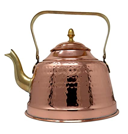 Amazon Com Copper Kettle For Warming Water Tea And Coffee