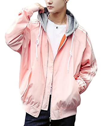 8f3ae6729e4 GAGA Men Fashion Full Zipper Solid Color Casual Loose Plus Size Long Sleeve Hooded  Jacket at Amazon Men s Clothing store