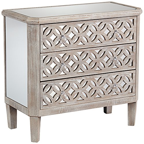 Why Should You Buy 55 Downing Street Charly Natural Whitewash 3-Drawer Lattice Accent Chest