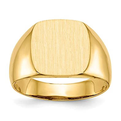 14k Yellow Gold Mens Signet Band Ring Size 9 00 Man Fine Jewelry