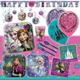 Deluxe Disney Frozen Sisters Birthday Party Pack Decoration Kit For 16