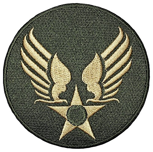 US AIR FORCE STAR CIRCLE EAGLE WING logo Insignia Military Army United Logo size 3 inch. Jacket Vest shirt hat blanket backpack T shirt Patches Embroidered Appliques Symbol Badge Cloth - Movies Us Cat 4