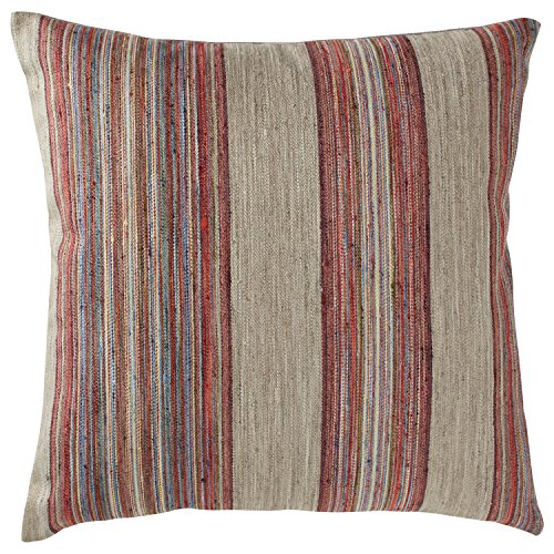 "Rivet Bohemian Stripe Pillow, 17"" x 17\"", Fuschia"