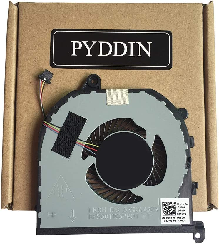 New CPU Cooling Fan for Dell XPS 15 9570 15-9570 Precision M5530 DP/N: 008YY9 4-pin (CPU Fan)