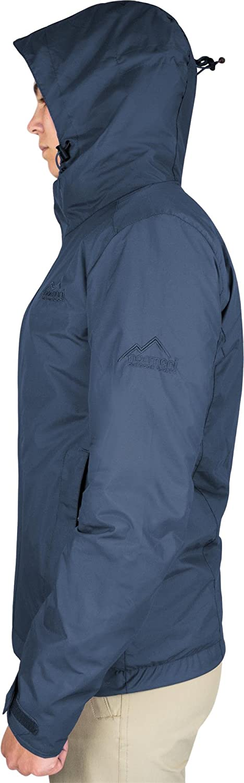 normani Damen Hardshelljacke mit Kapuze 10.000 mm Wassers/äule Regenjacke mit Zip-T3K System