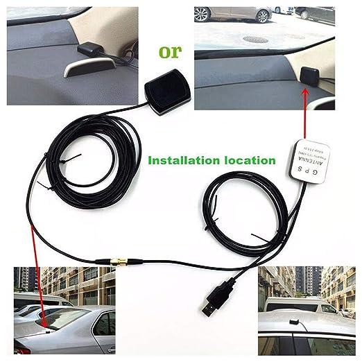 Focilybiber - Amplificador de Antena de Coche SUV GPS de 5 V USB ...
