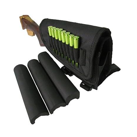 Tactical Rifle Gun Ammo Carrier Holder Butt Piece Pad Buttstock Cheek Rest Nylon