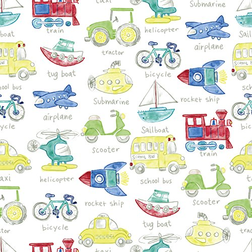 Jillson Roberts 6 Roll-Count All-Occasion Gift Wrap Available in 14 Different Assortments, Hooray for Little Boys