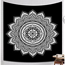 Multi-size Mandala Hamsa Wicca Ganesha Wall Hanging Tapestry LivebyCare Tablecloth Lightweight Fabric Decorative Wall Tapestries Decor Art Beach Towel Table Cloth Cover for Presence Waiting Room
