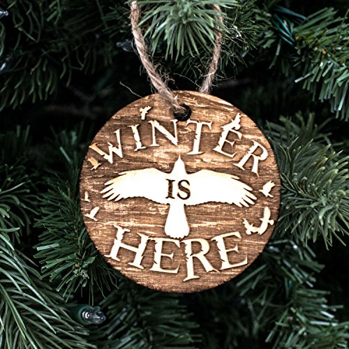 Ornament - Winter is Here - Raw Wood 3x3in