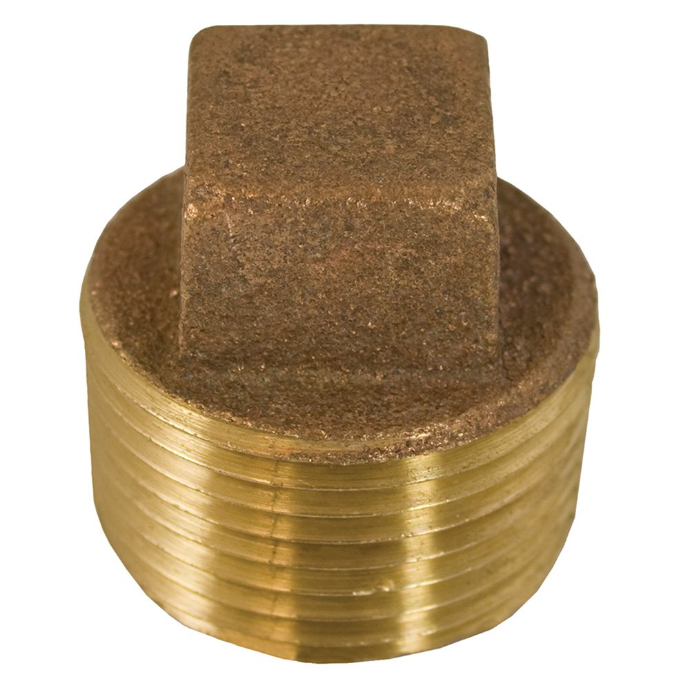 Jones Stephens Corp - 1-1/4 Bronze Sq Head Cored Plug - Lead Free