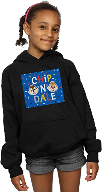 Disney Girls Chip N Dale Blue Frame Hoodie
