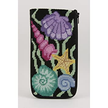 a31ed64a43e Image Unavailable. Image not available for. Color  Eyeglass Case - Shells - Needlepoint  Kit