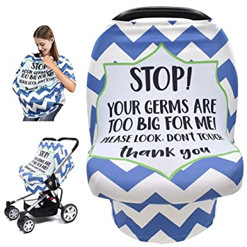Baby Car Seat Cover with Safety Warning No Touching Sign Nursing Covers for  Stroller High Chair Shopping Cart | Lazada