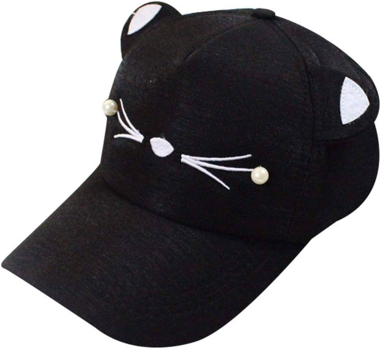 2018 Summer Cartoon Kawaii Cat Print Hat Adult Woman Outdoor Sports Adjustable Sun Visor Caps
