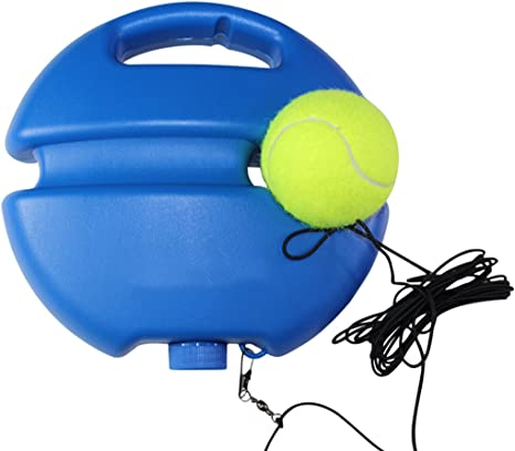 Fansport Tennis Trainer Tennis Trainer Training Tennis Tool Tennis Ball Trainer Tennis Training Equipment Trainer Tools With Ball Tennis Aid Sports Tennis Ball Back Balls Back Base Blue Amazon Co Uk Sports Outdoors