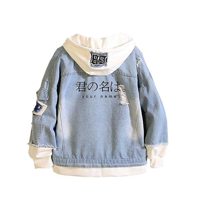 568f13e466 Cosstars Your Name Anime Denim Jacket Hoodie Giacchetta Adulto ...