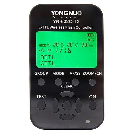 Yongnuo YN-622C-TX E-TTL Funkauslöser für Canon 500D 550D 600D 650D 700D 1000D 1100D 50D 60D 70D 1D 1D2 1D3 1D4 1Ds 1Ds2 1Ds3