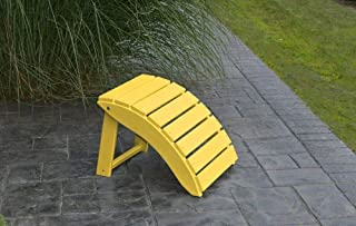 product image for Outdoor Poly Folding Ottoman - Lemon Poly Lumber - Amish Yellow