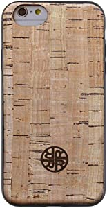 Cork Wood Case Compatible with iPhone by Reveal Shop - Eco-Friendly Cork Leather Design - Natural Beige (6/6s)