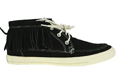 e1de5418e18 Converse All Star Women s Moccasin Mid Fringed Black Suede 532064C ...