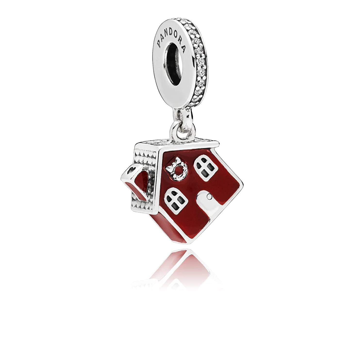 2fd70d9b6 Amazon.com: Pandora Cozy Christmas House Dangle Charm 797517EN27: Jewelry