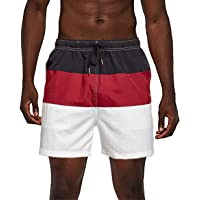 DISINIBITA Mens Never Broke Again Swim Trunks Beach Shorts with Mesh Lining Quick Dry Surfing Board Shorts