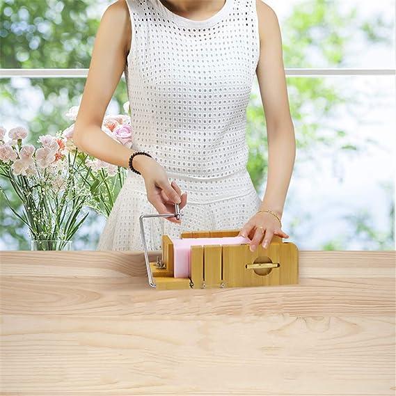 Cortador de jabón de acero inoxidable recta cera masa mango de madera para hacer nuevos jabones